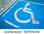Close Up Of Empty Handicapped...