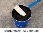 waterproofing. roller brush.... | Shutterstock . vector #529485838