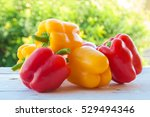 Red And Yellow Bell Peppers...
