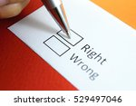 Small photo of Right or wrong? Right