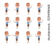 set of smart and cute character ... | Shutterstock .eps vector #529498468