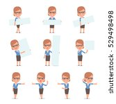 set of smart and cute character ... | Shutterstock .eps vector #529498498