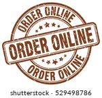 order online. stamp. brown...   Shutterstock .eps vector #529498786
