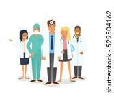 doctors and surgeons set. set... | Shutterstock .eps vector #529504162