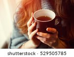 Drink tea relax cosy photo with ...