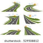 roads and landscape logo set... | Shutterstock .eps vector #529508812