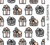 gift boxes with ribbons with... | Shutterstock .eps vector #529509796