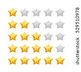 3d five stars rating icon set.... | Shutterstock .eps vector #529510978