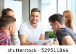 group of young designers making ...   Shutterstock . vector #529511866
