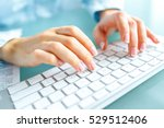 female hands or woman office... | Shutterstock . vector #529512406