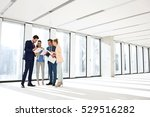 full length of business people... | Shutterstock . vector #529516282