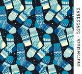 christmas blue striped socks... | Shutterstock .eps vector #529521892