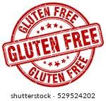 gluten free. stamp. red round...