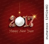 happy new year background with... | Shutterstock .eps vector #529526482