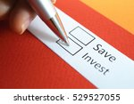 save or invest  invest.  | Shutterstock . vector #529527055
