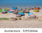 colorful traditional boats in... | Shutterstock . vector #529528366