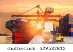 logistics and transportation of ... | Shutterstock . vector #529532812