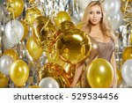 portrait of blond young woman... | Shutterstock . vector #529534456