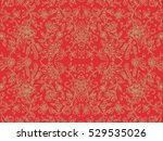 simple wrapping paper red two | Shutterstock .eps vector #529535026