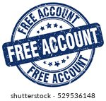 free account. stamp. blue round ... | Shutterstock .eps vector #529536148