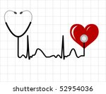 heart and a medical stethoscope ... | Shutterstock .eps vector #52954036