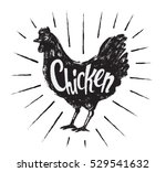 chicken hand drawn illustration ... | Shutterstock .eps vector #529541632