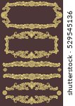 victorian baroque floral... | Shutterstock .eps vector #529545136