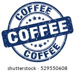coffee. stamp. blue round... | Shutterstock .eps vector #529550608