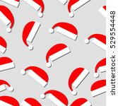 new year pattern with santa... | Shutterstock .eps vector #529554448