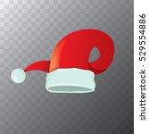 vector cartoon funky red santa... | Shutterstock .eps vector #529554886