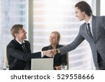 young confident business man... | Shutterstock . vector #529558666