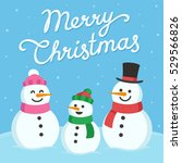 cute christmas greeting card.... | Shutterstock .eps vector #529566826