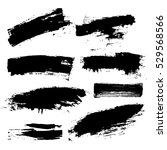 set of black paint  ink brush... | Shutterstock .eps vector #529568566