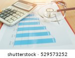 health care costs concept... | Shutterstock . vector #529573252