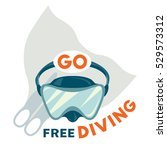 vector diving logo with... | Shutterstock .eps vector #529573312
