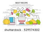 best recipes concept with... | Shutterstock .eps vector #529574302