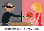 online dating fraud   Shutterstock .eps vector #529576438