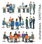 illustrations of business... | Shutterstock . vector #529577566