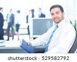 portrait of smiling businessman ...   Shutterstock . vector #529582792