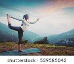 woman doing yoga asana... | Shutterstock . vector #529585042