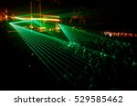 night club party crowd green... | Shutterstock . vector #529585462