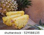 healthy pineapple fruit on...   Shutterstock . vector #529588135