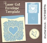 lasercut vector wedding... | Shutterstock .eps vector #529588996