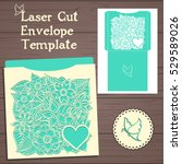 lasercut vector wedding... | Shutterstock .eps vector #529589026