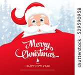 christmas greeting card. merry... | Shutterstock .eps vector #529590958