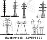 illustration with electric... | Shutterstock .eps vector #529595536