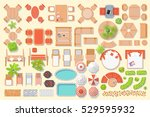 icons set. outdoor furniture... | Shutterstock .eps vector #529595932