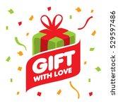vector logo gift | Shutterstock .eps vector #529597486