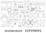 set of linear icons. interior... | Shutterstock .eps vector #529598092