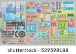 set of landscape elements. city.... | Shutterstock .eps vector #529598188